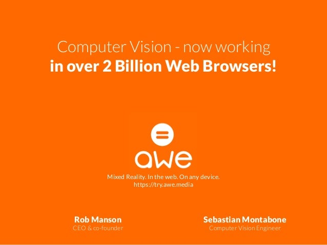 Computer Vision - now working