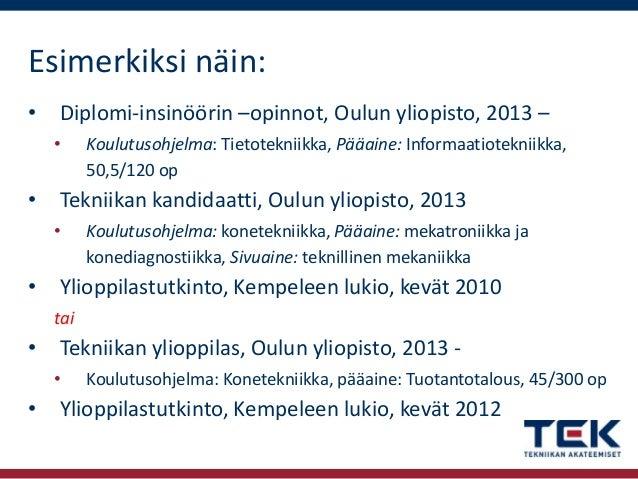 Tuotantotalous Diplomi-Insinööri