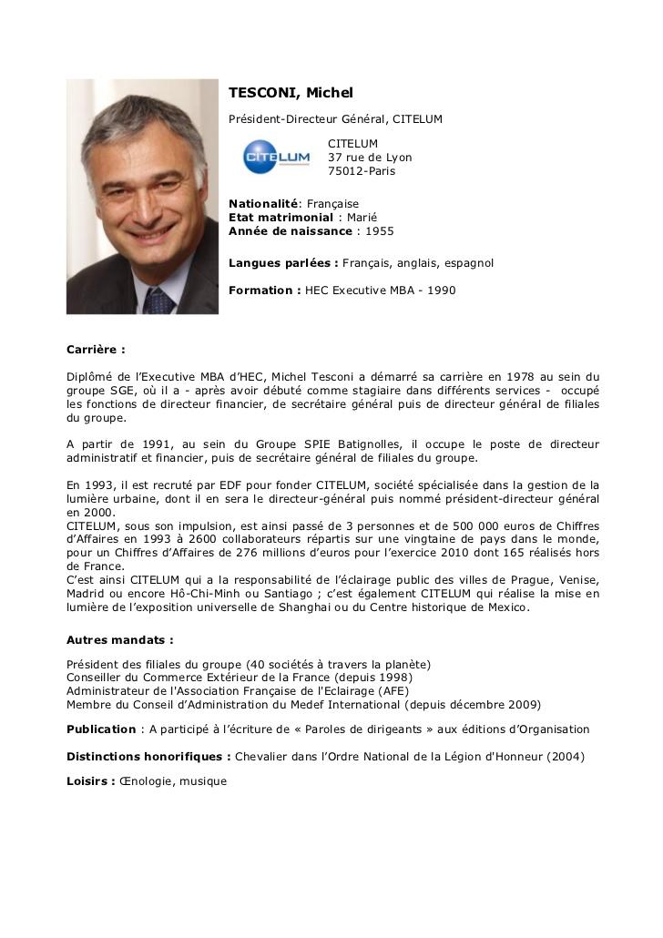 Bien-aimé Michel Tesconi, CITELUM, CV DA67