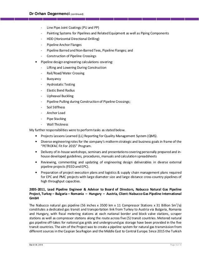 pipeline field engineer resume