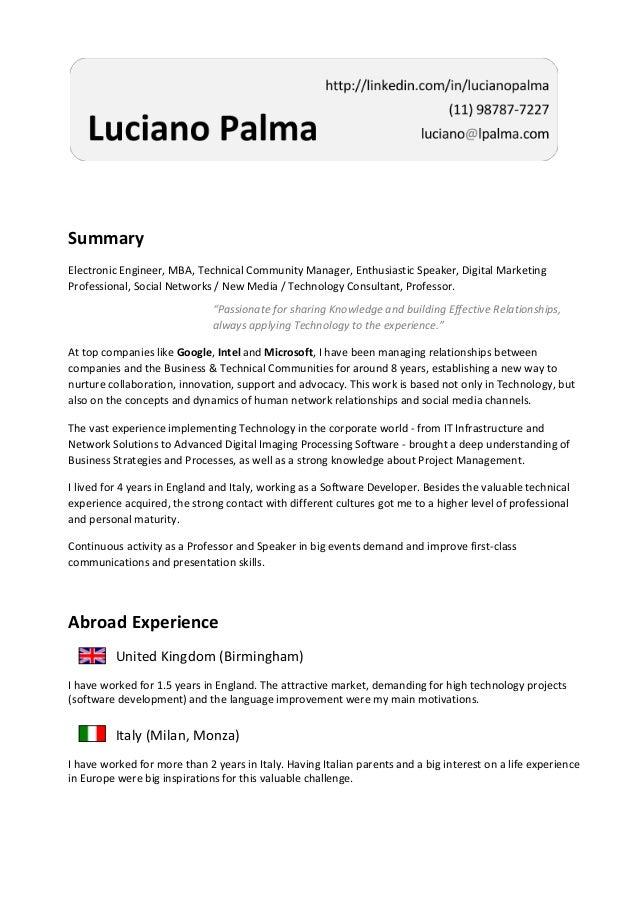 Summary Electronic Engineer, MBA, Technical Community Manager, Enthusiastic Speaker, Digital Marketing Professional, Socia...