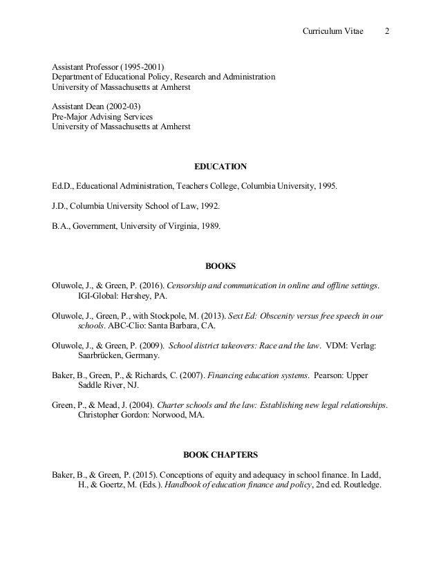 cv green publications and presentations
