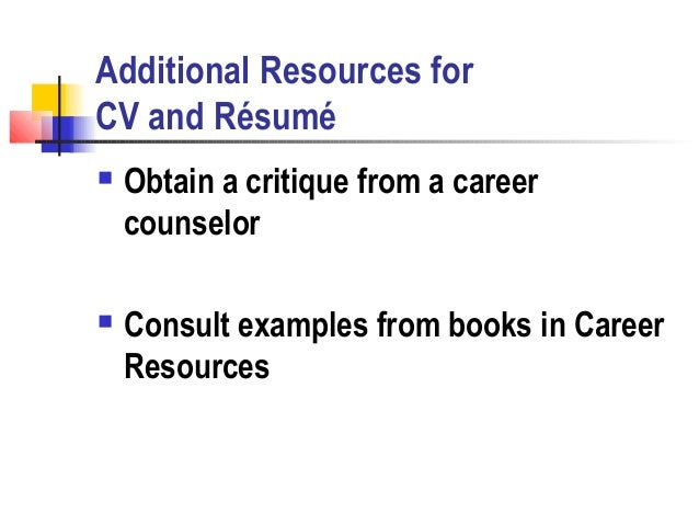 cv  resume writing workshop by molly steen