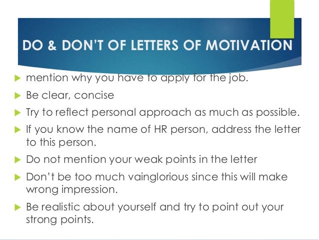 cv resume letter of motivation
