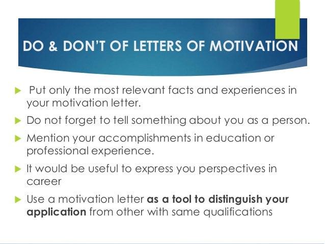 CV- Resume-Letter of motivation