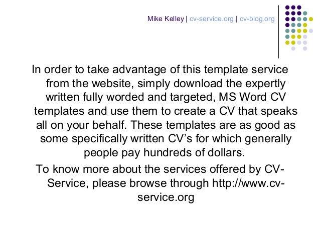 cv service offers best cv templates online