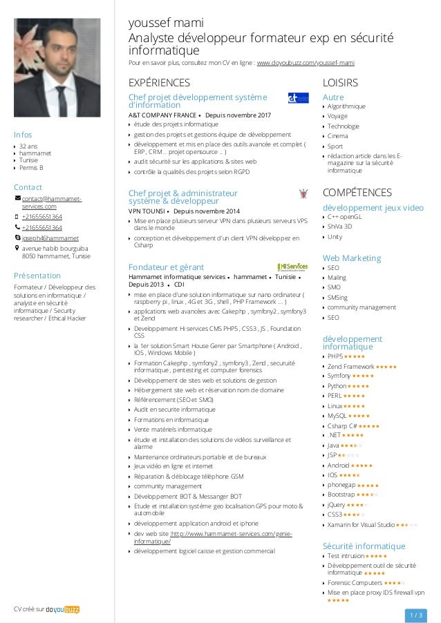 Cv Developpeur Informatique