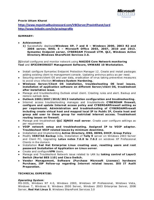 Systems Administrator Resume Linkedin A Good Resume Example
