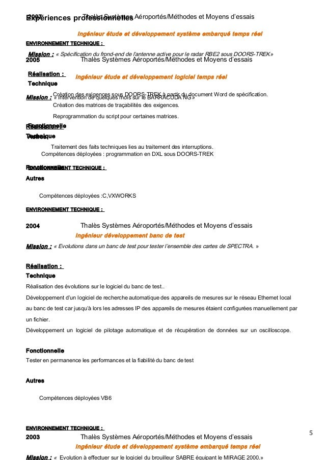 exemple de cv ingenieur en automatismes