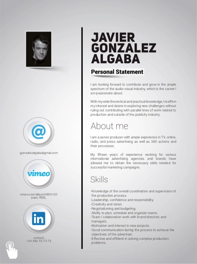 digital interactive cv