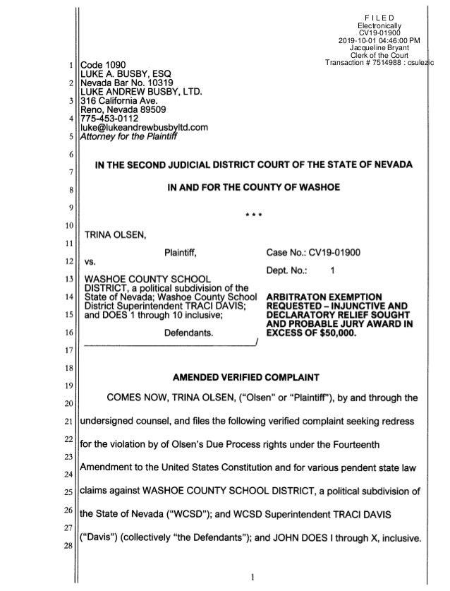 F I L E D Electronically CV19-01900 2019-10-01 04:46:00 PM Jacqueline Bryant Clerk of the Court Transaction # 7514988 : cs...