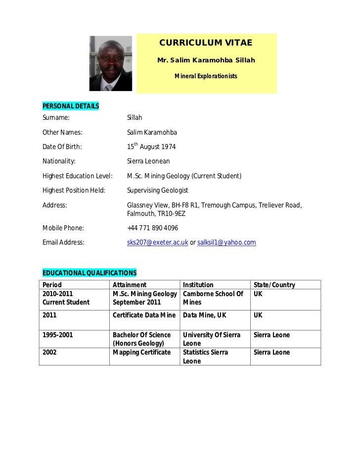 CV Curriculum Vitae – The Different Formats