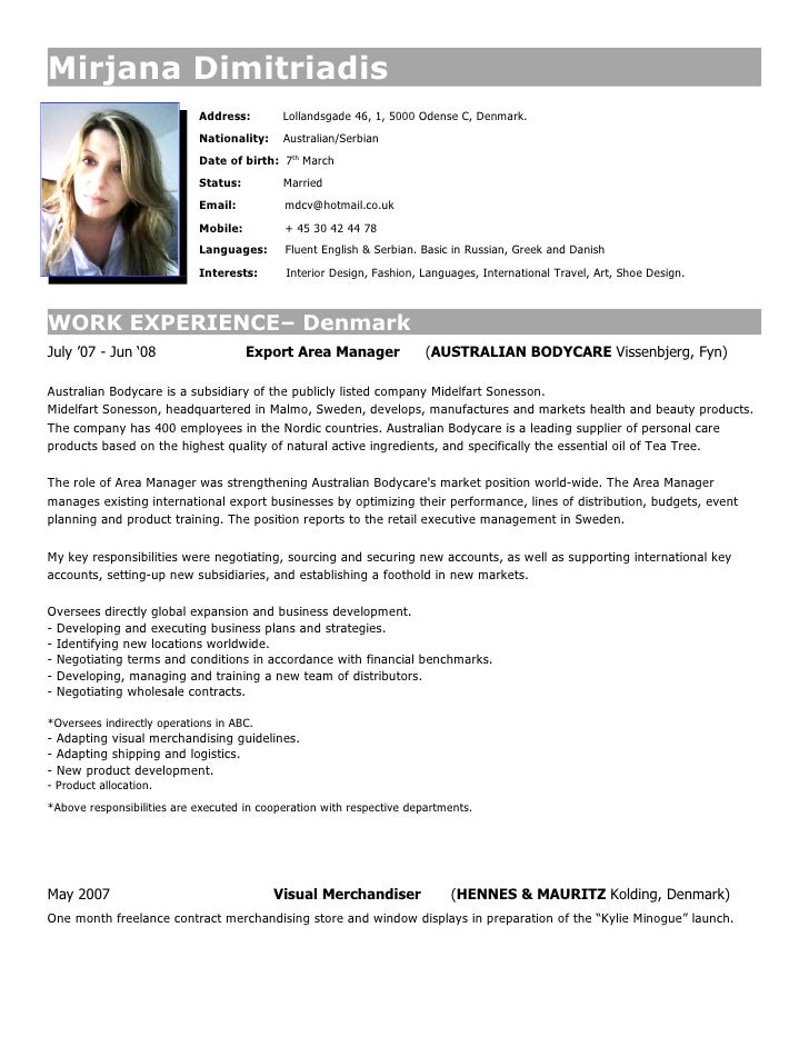 Mirjana Dimitriadis                             Address:        Lollandsgade 46, 1, 5000 Odense C, Denmark.               ...