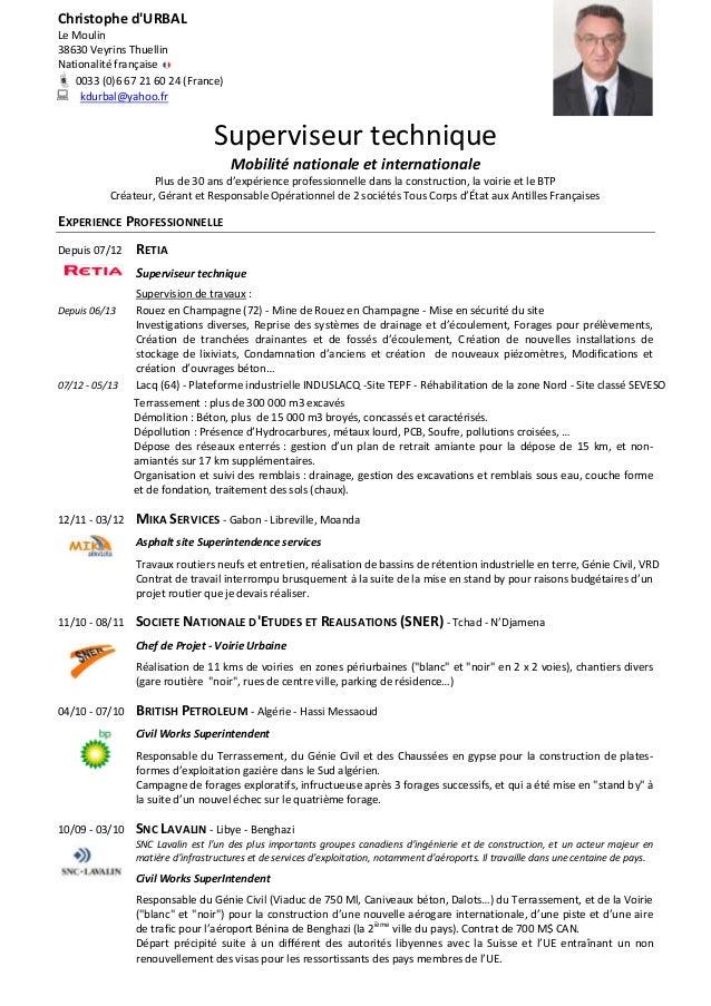 Christophe d'URBAL Le Moulin 38630 Veyrins Thuellin Nationalité française  0033 (0)6 67 21 60 24 (France)  kdurbal@yahoo...