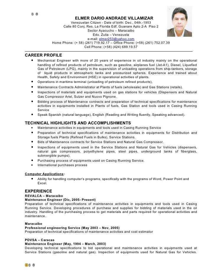 cv  english  elmer andrade
