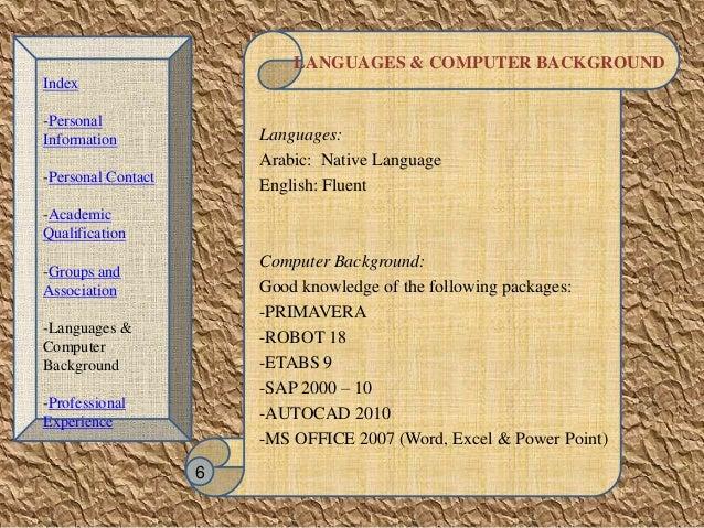 resume native language