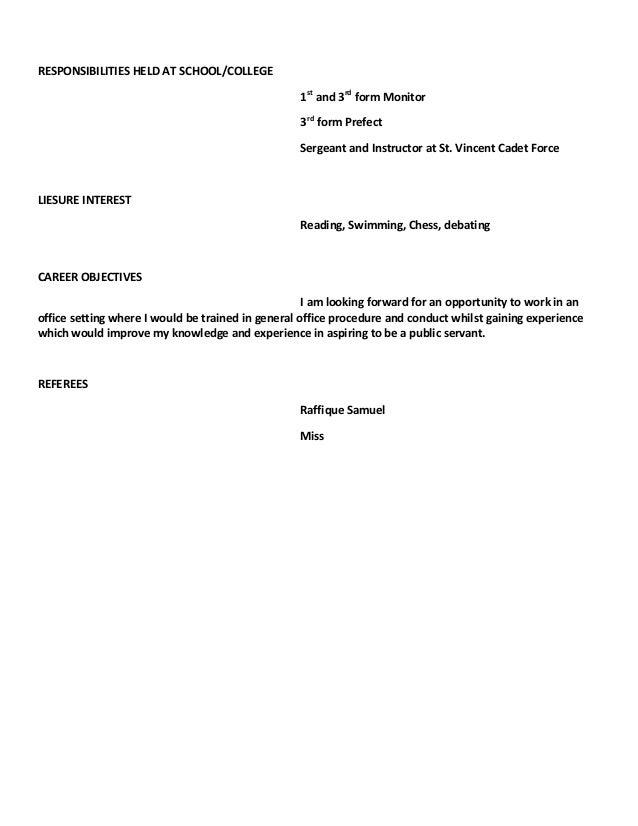 SlideShare  Curriculum Vitae Format
