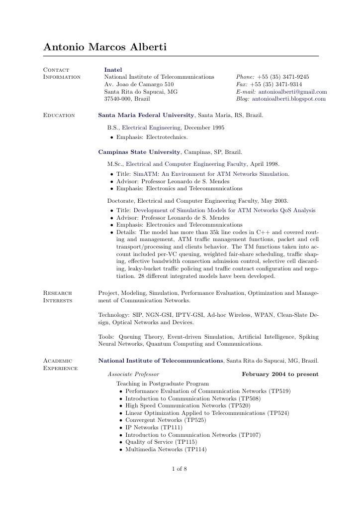 Antonio Marcos Alberti  Contact         Inatel Information     National Institute of Telecommunications           Phone: +...