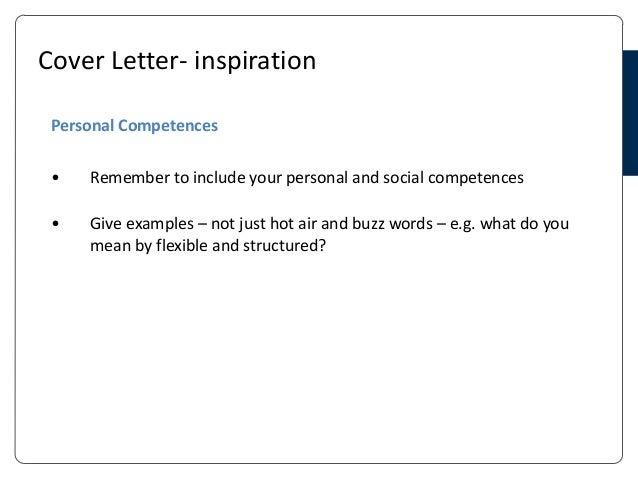 cv and cover letter presentation