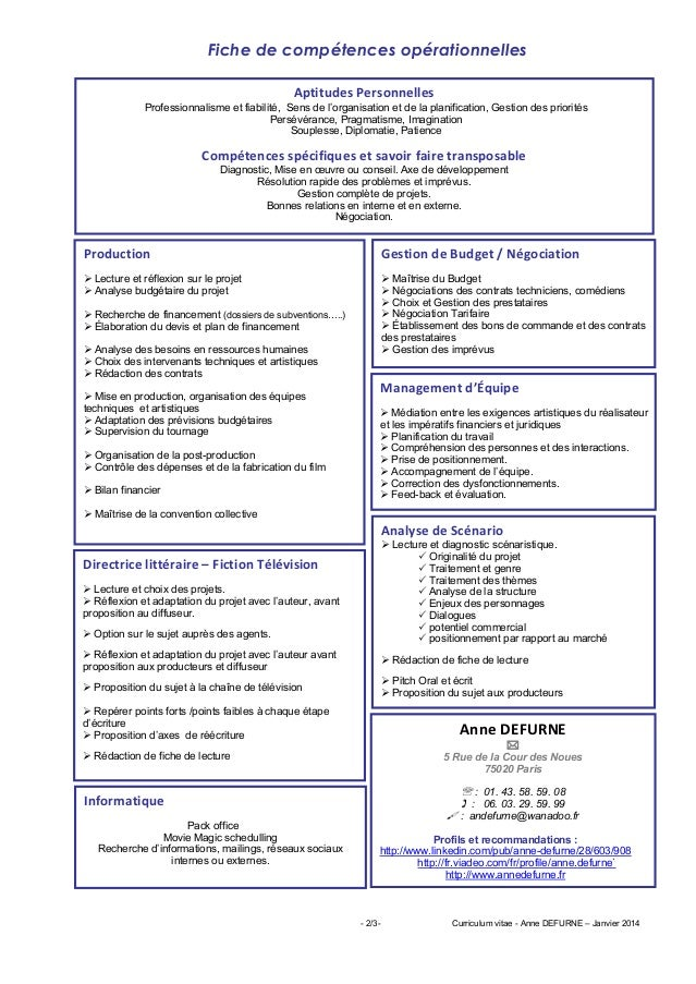 exemple de cv regisseur general cinema