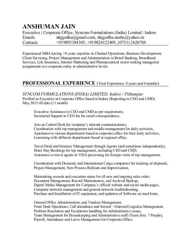 Career Profile - Anshuman Jain