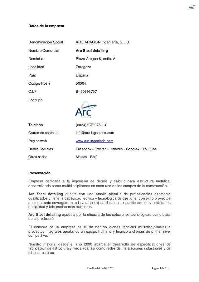 cv arc steel detailing