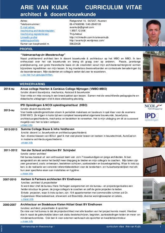 CV Arie van Kuijk