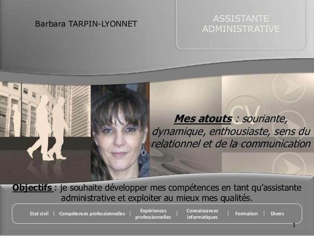 ASSISTANTE      Barbara TARPIN-LYONNET                                                                         ADMINISTRAT...