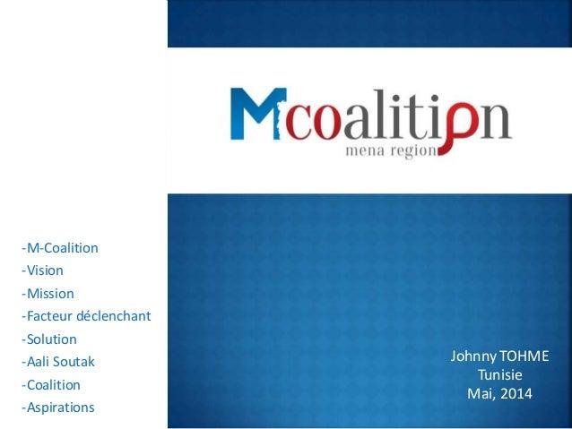 -M-Coalition -Vision -Mission -Facteur déclenchant -Solution -Aali Soutak -Coalition -Aspirations Johnny TOHME Tunisie Mai...