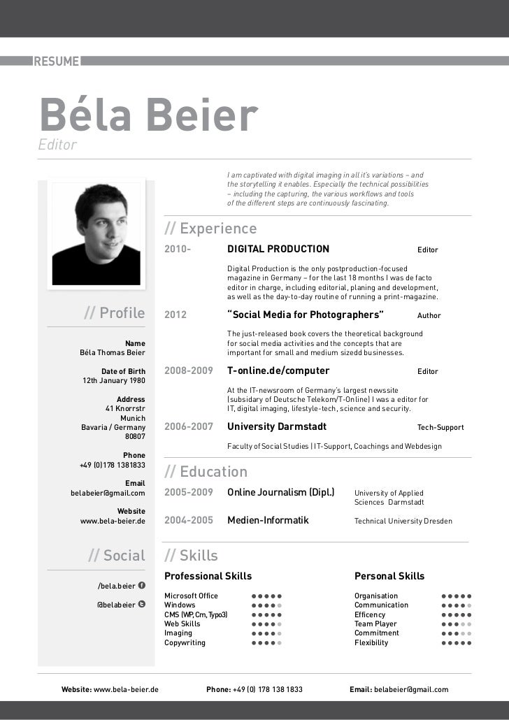 RESUMEBéla BeierEditor                                                      I am captivated with digital imaging in all it...