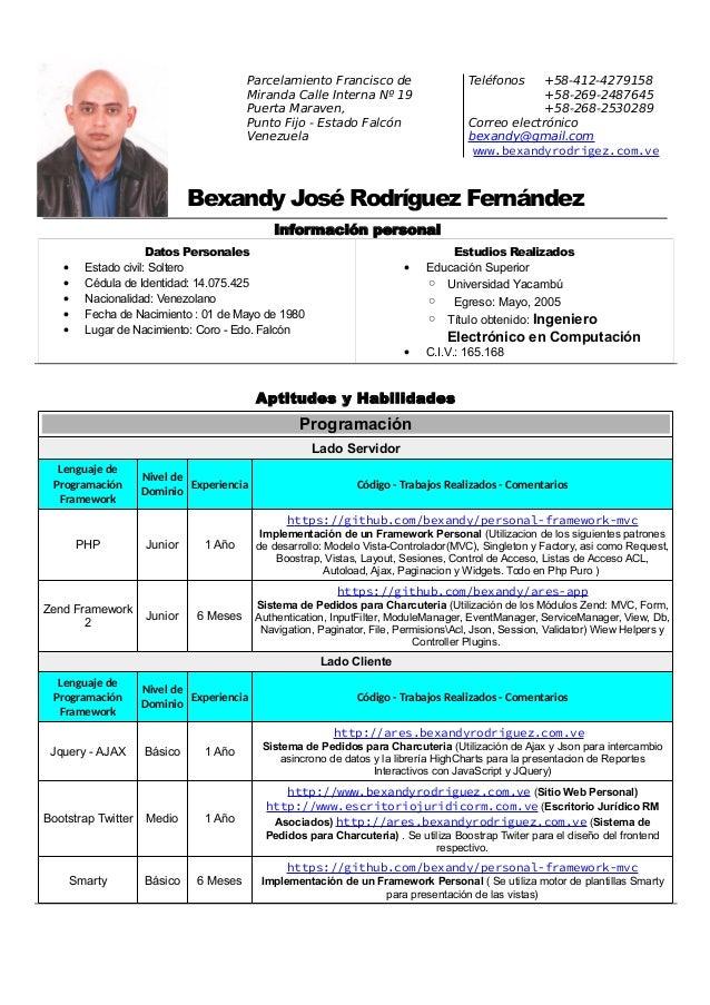 CV Bexandy Rodriguez