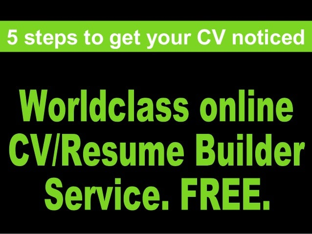 1 5 steps to get your CV noticed