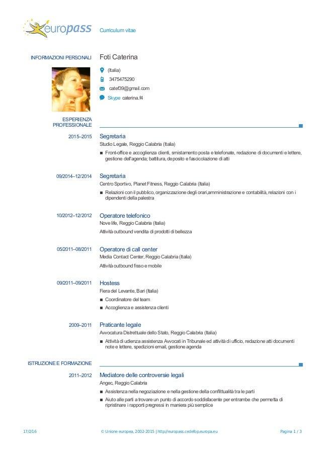 cv caterina foti pdf