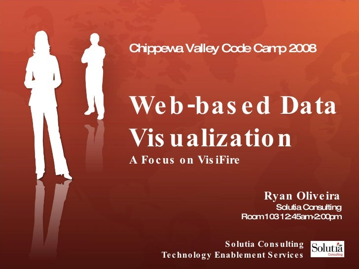 Chippewa Valley Code Camp 2008 Web-based Data Visualization  A Focus on VisiFire Ryan Oliveira Solutia Consulting Room 103...