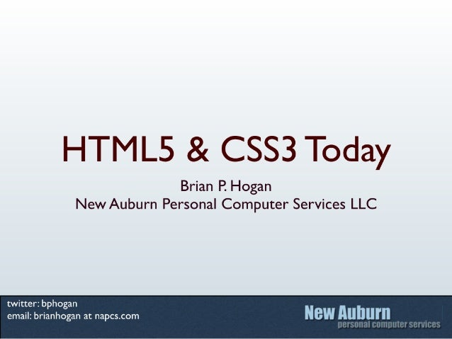 HTML5 and CSS3 Today