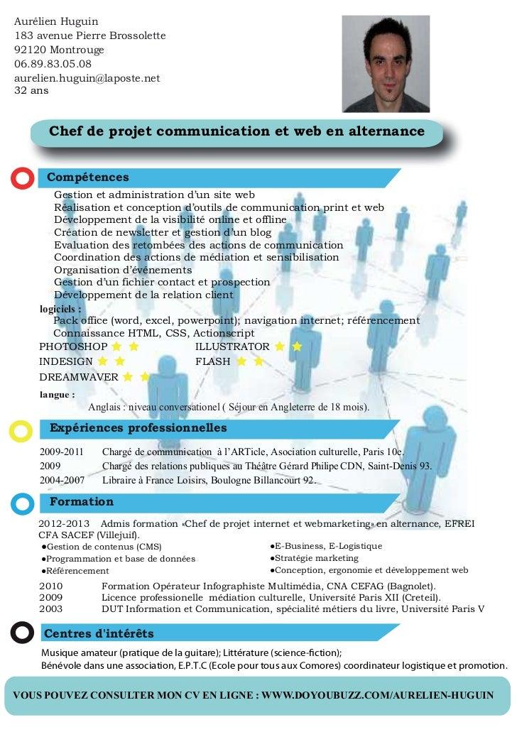 cv chef de projet communication et web