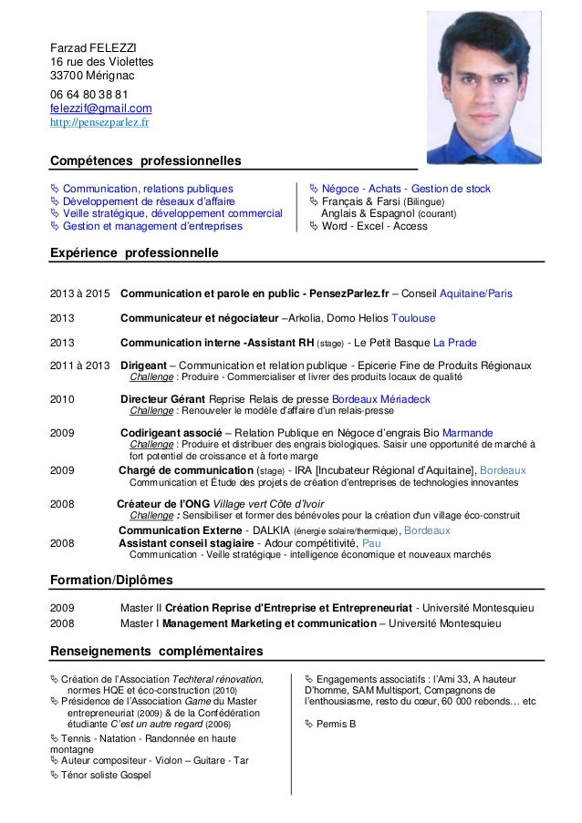 cv communication management n u00e9gociation