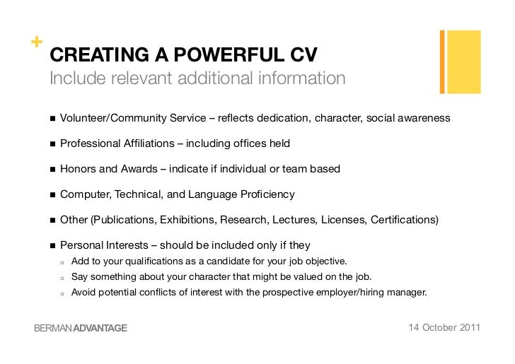 ESEI - Creating a powerful CV and Cover Letter