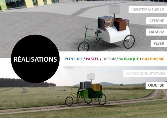 réalisations peinture / pastel / dessin / mosaique / Graphisme