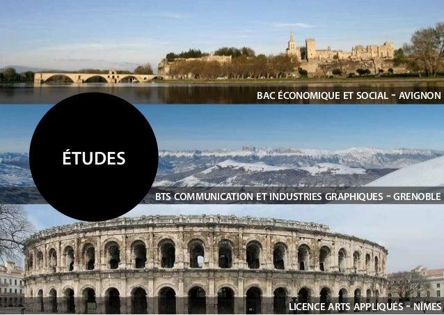 études bac économique et social - avignon bts communication et industries graphiques - grenoble licence arts appliqués - n...