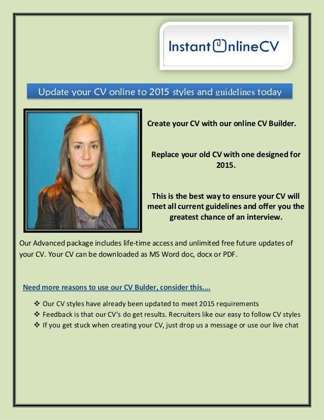 cv creator online