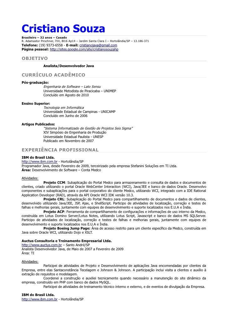 Encantador Muestra Curriculum Vitae Experiencia De Desarrollador De ...