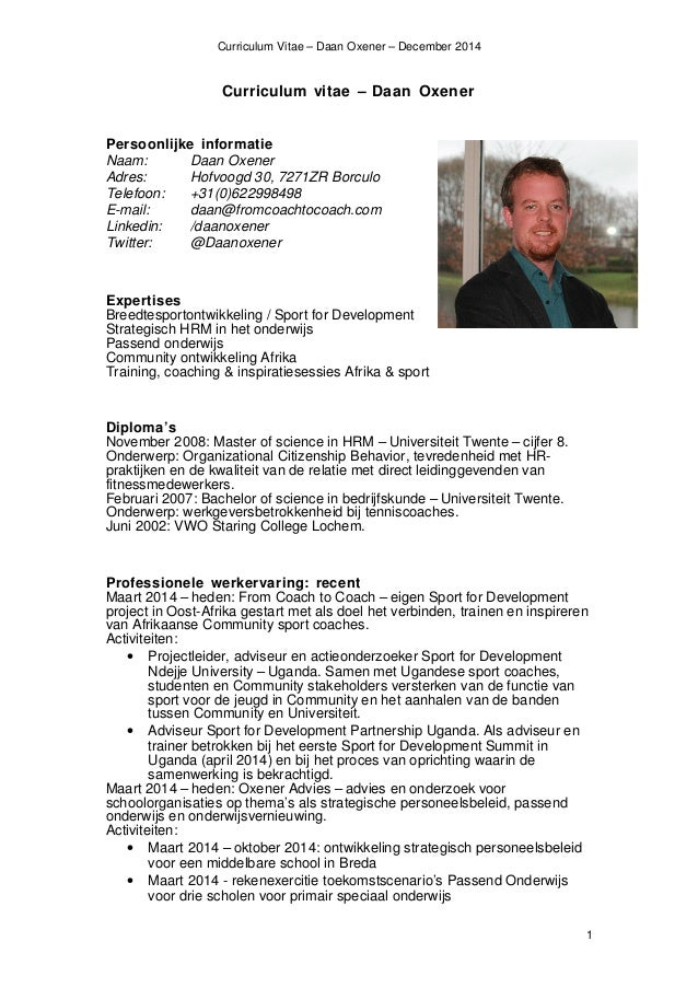 CV Daan Oxener