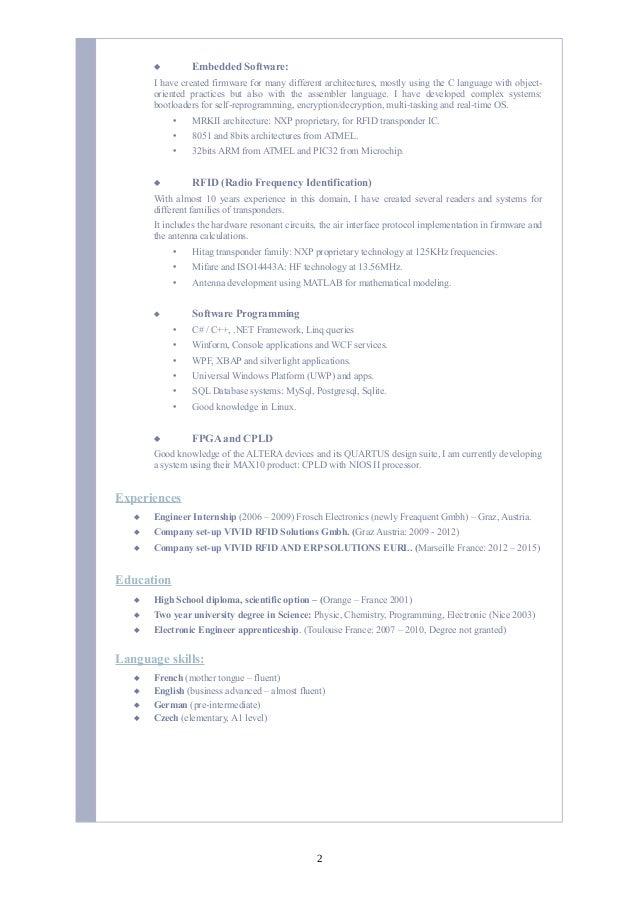 CV Damien Boissat 2016