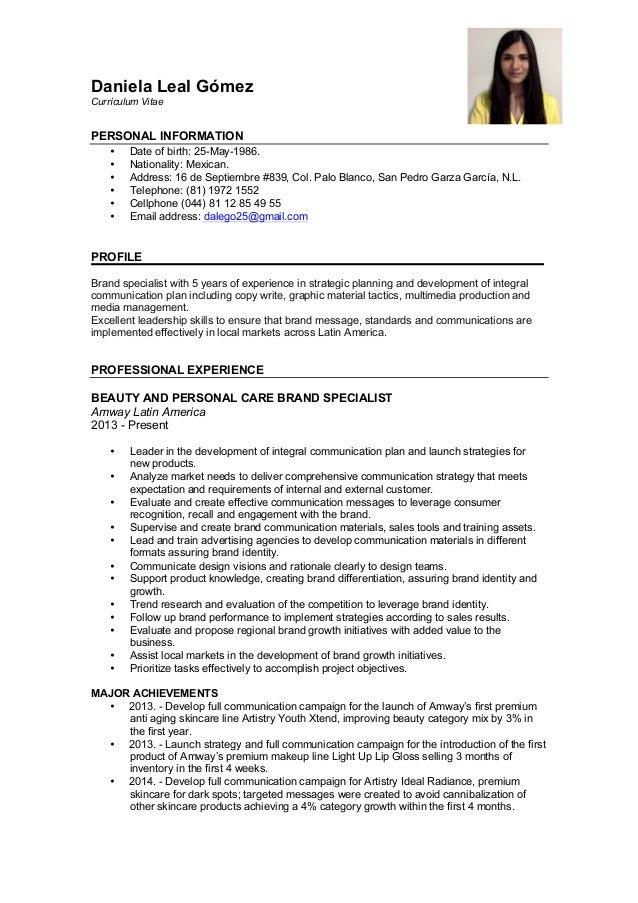 resume daniela leal