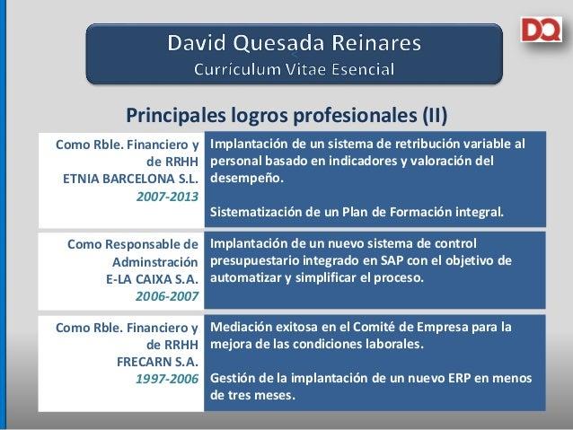 Cv David Quesada 2015