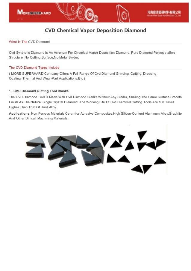 CVD Chemical Vapor Deposition Diamond
