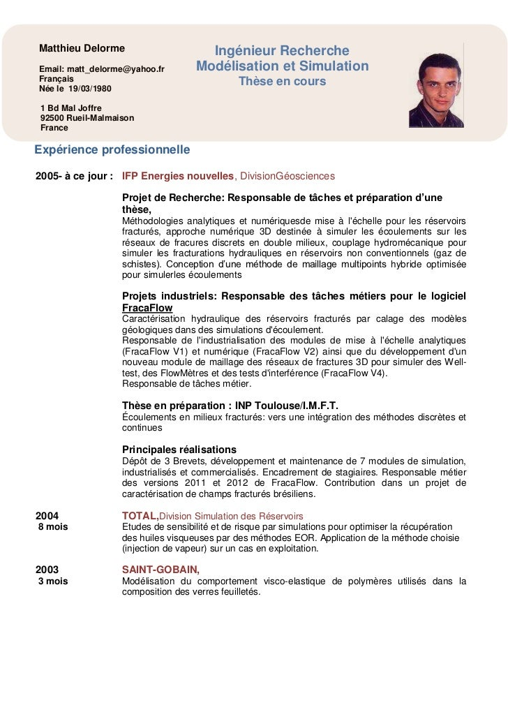 Reservoir Engineer Fracaflow Delorme Cv Et Publications