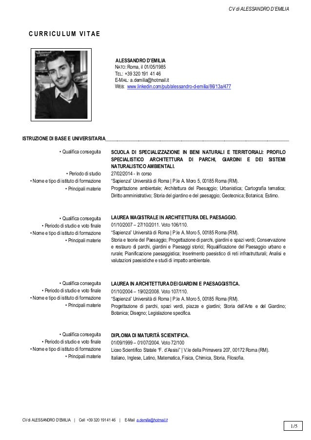 Cv D Emilia Alessandro