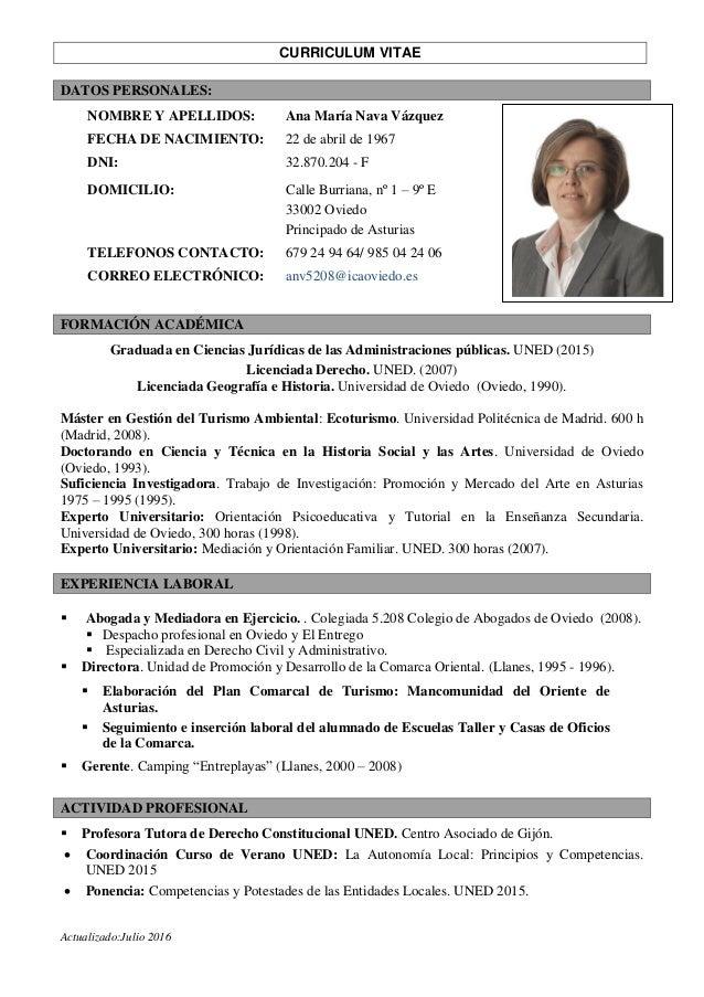 cv doctorado